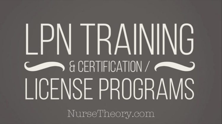 LPN training & certification/license programs